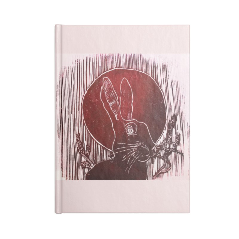 Hare Under the Blood Moon Accessories Notebook by Beautifully Grotesque Artist Shop