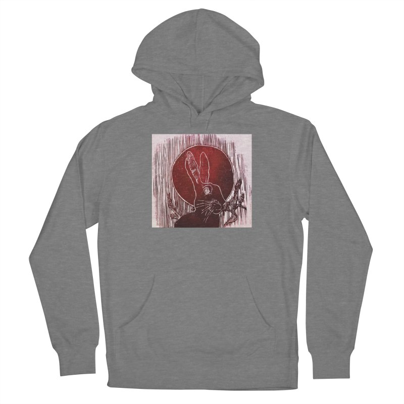 Hare Under the Blood Moon Women's Pullover Hoody by Beautifully Grotesque Artist Shop