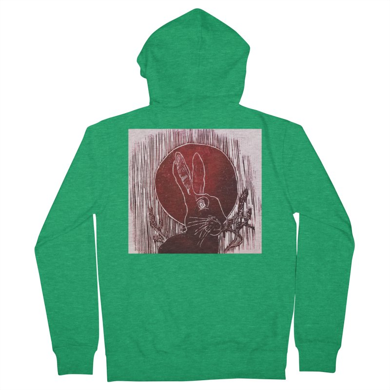 Hare Under the Blood Moon Women's Zip-Up Hoody by Beautifully Grotesque Artist Shop