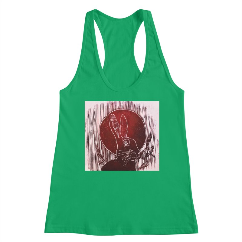 Hare Under the Blood Moon Women's Tank by Beautifully Grotesque Artist Shop