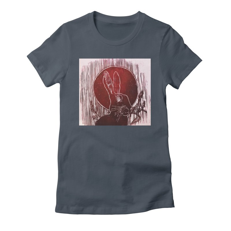 Hare Under the Blood Moon Women's T-Shirt by Beautifully Grotesque Artist Shop