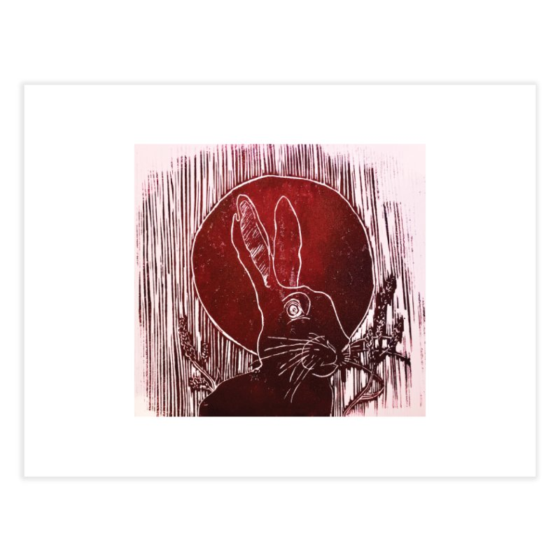 Hare Under the Blood Moon Home Fine Art Print by Beautifully Grotesque Artist Shop