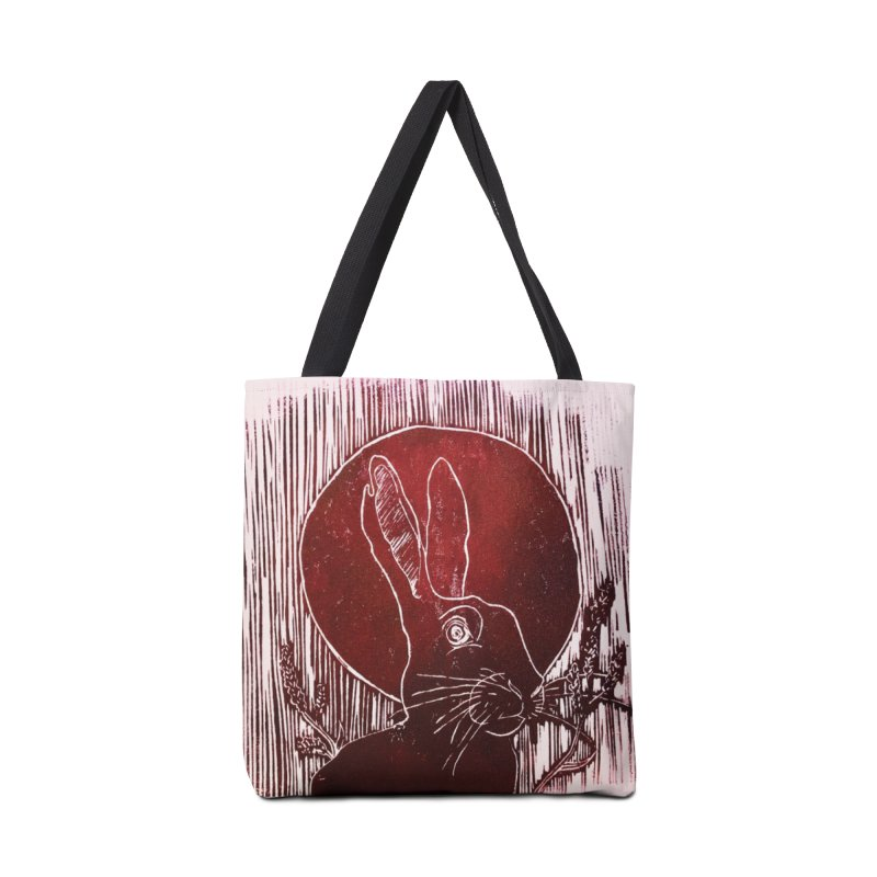 Hare Under the Blood Moon Accessories Bag by Beautifully Grotesque Artist Shop