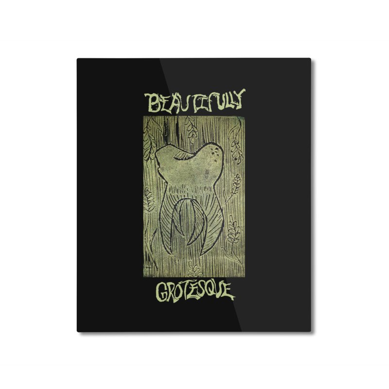 Branded Golden Wisdom Home Mounted Aluminum Print by Beautifully Grotesque Artist Shop