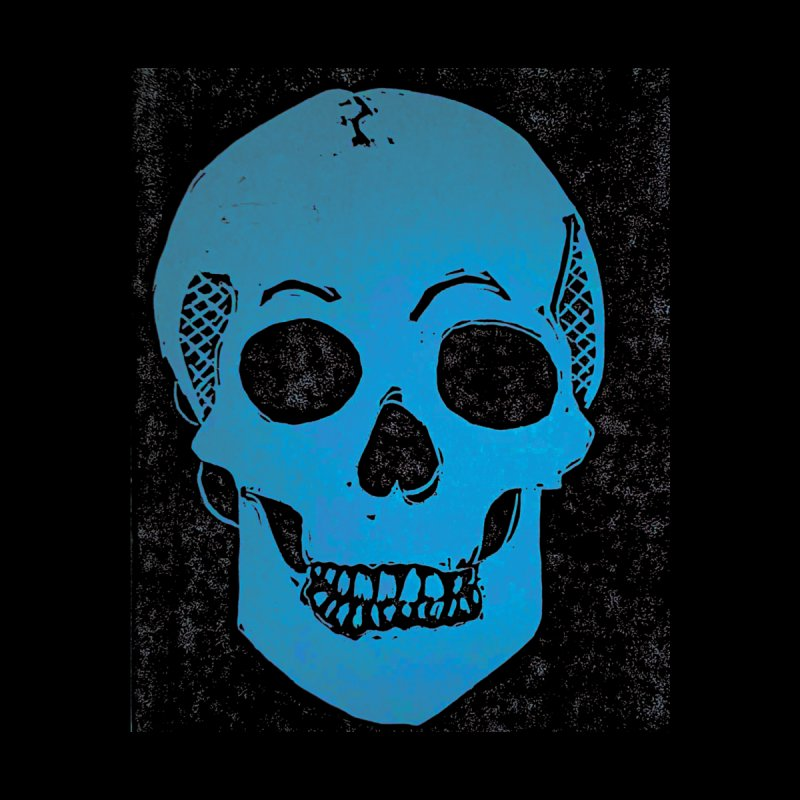Blue Skull Men's T-Shirt by Beautifully Grotesque Artist Shop