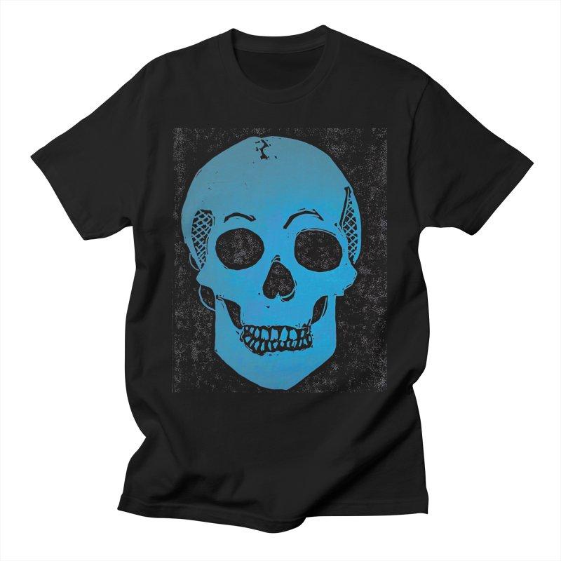Blue Skull Women's T-Shirt by Beautifully Grotesque Artist Shop