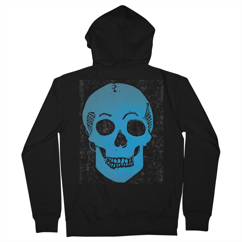 Blue Skull Women's Zip-Up Hoody by Beautifully Grotesque Artist Shop