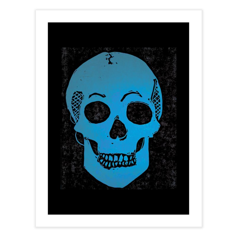 Blue Skull Home Fine Art Print by Beautifully Grotesque Artist Shop