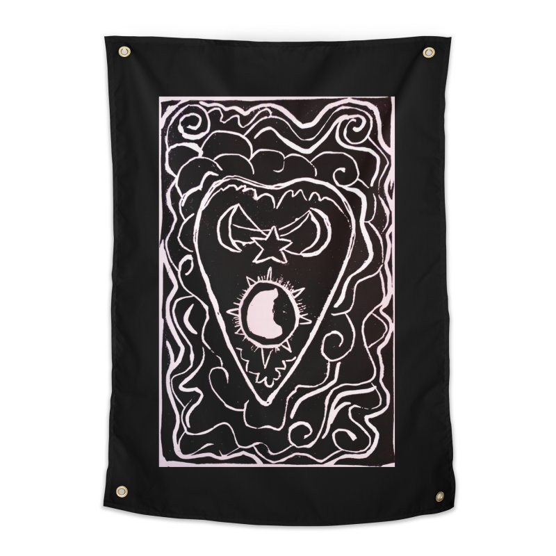 Dark Message Home Tapestry by Beautifully Grotesque Artist Shop