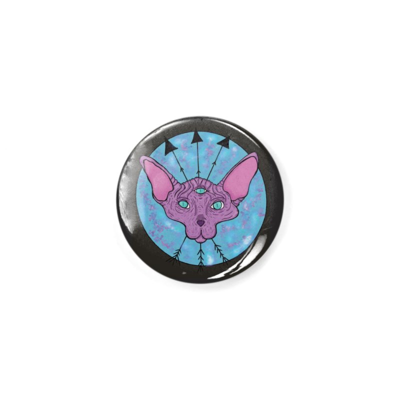 Mystical Magical Sphinx Accessories Button by Beautifully Grotesque Artist Shop