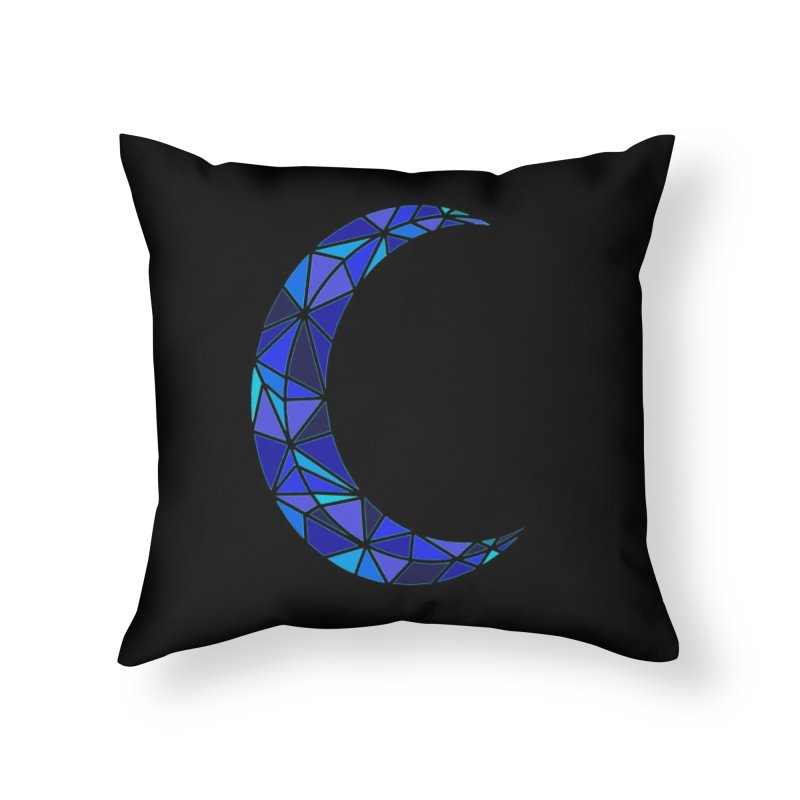 Mosaic Moon Home Throw Pillow by Beautifully Grotesque Artist Shop