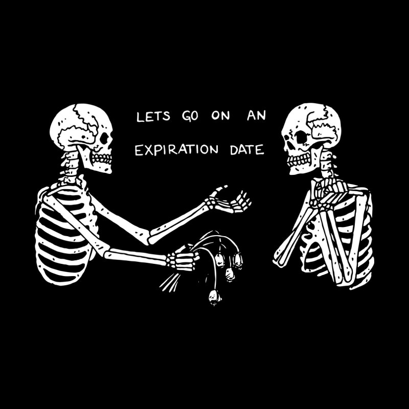 EXPIRATION DATE (BLACK) Men's T-Shirt by Beebosloth