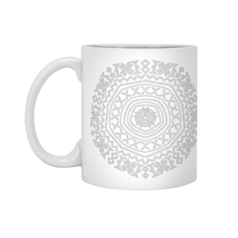 Nordic Pattern in Standard Mug White by Beneath Northern Lights.com Shop