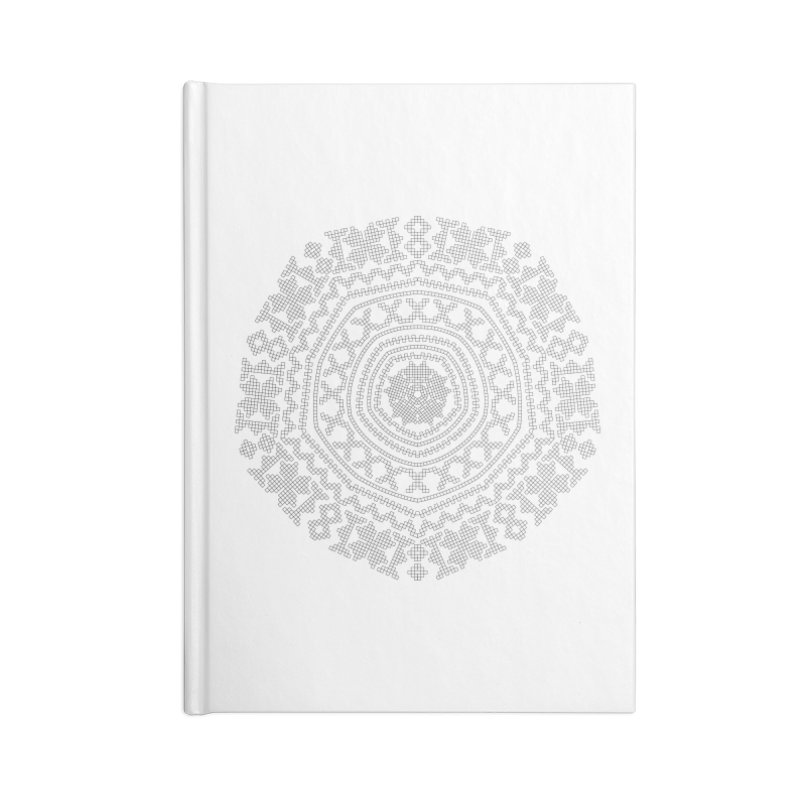 Nordic Pattern in Blank Journal Notebook by Beneath Northern Lights.com Shop
