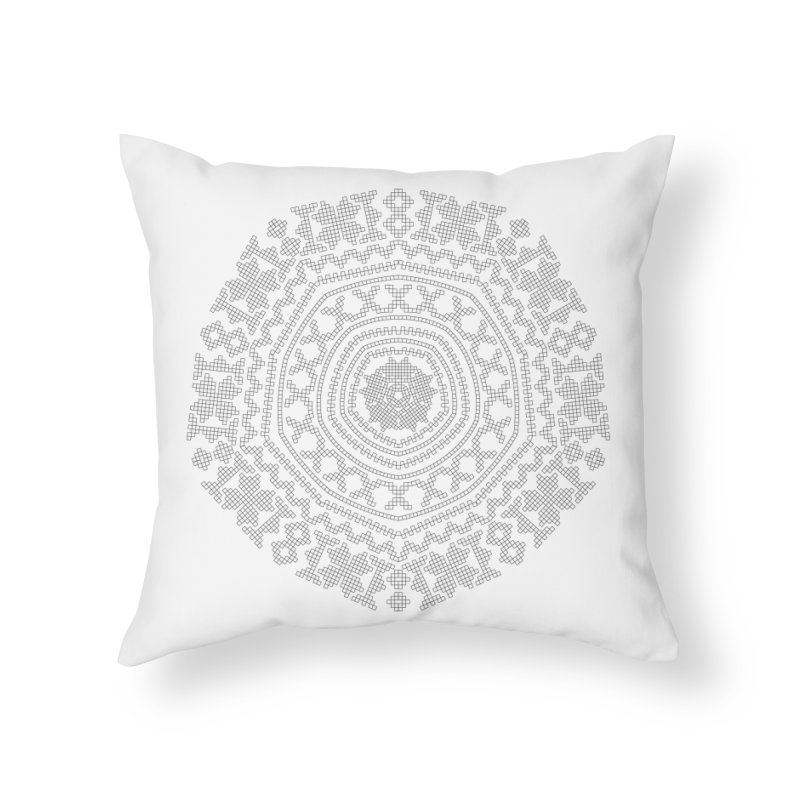 Nordic Pattern Home Throw Pillow by Beneath Northern Lights.com Shop