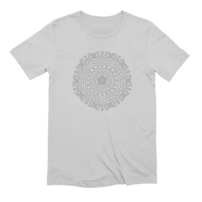Nordic Pattern in Men's Extra Soft T-Shirt Stone by Beneath Northern Lights.com Shop