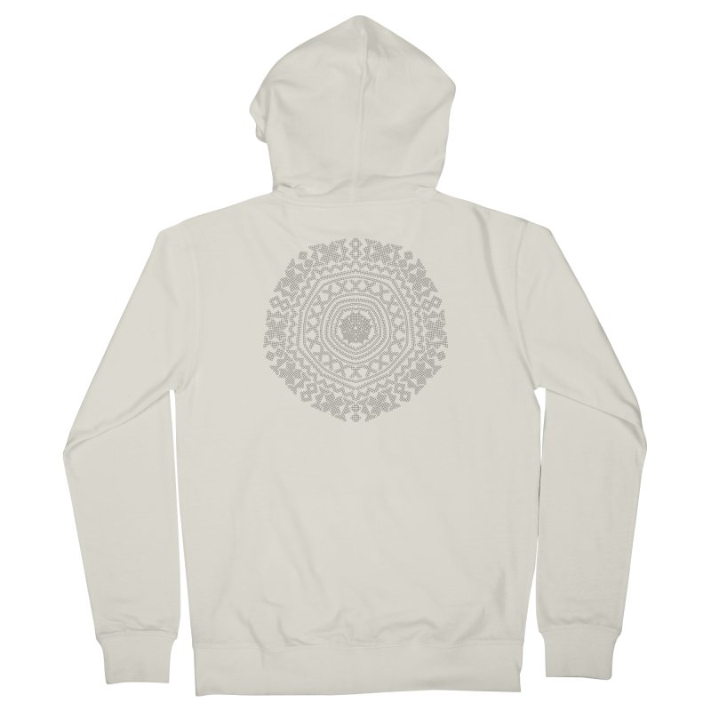 Nordic Pattern in Women's French Terry Zip-Up Hoody Heather Oatmeal by Beneath Northern Lights.com Shop
