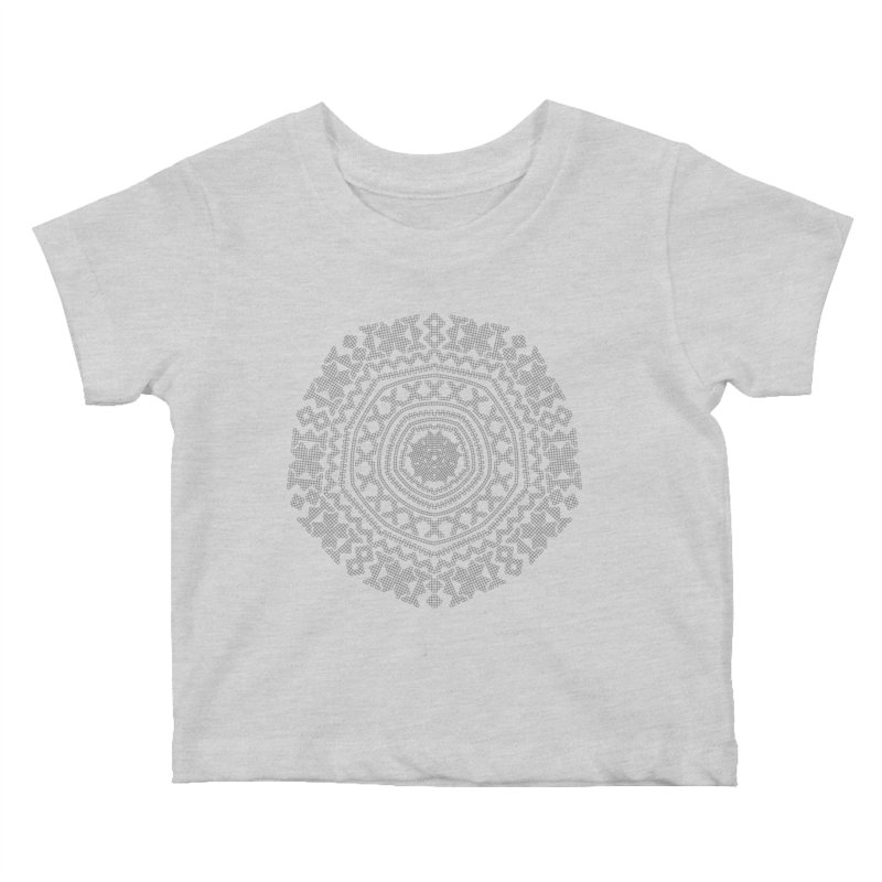 Nordic Pattern in Kids Baby T-Shirt Heather Grey by Beneath Northern Lights.com Shop
