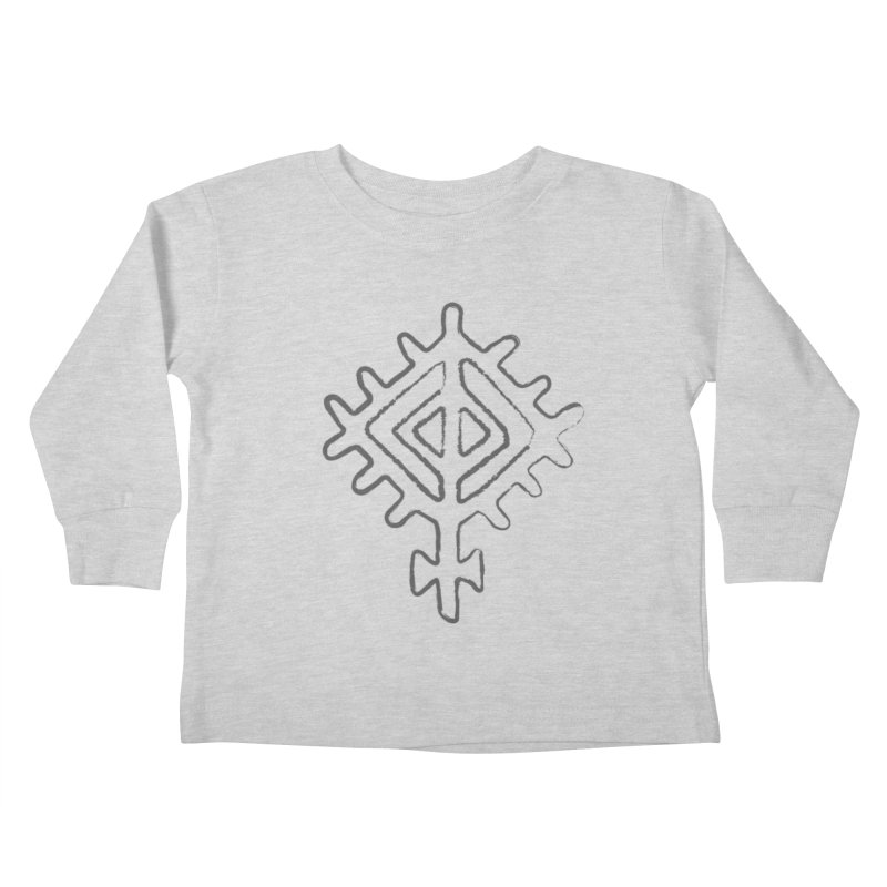 Midsummer Sun in Kids Toddler Longsleeve T-Shirt Heather Grey by Beneath Northern Lights.com Shop
