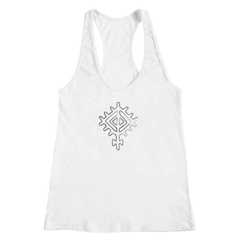 Midsummer Sun in Women's Racerback Tank White by Beneath Northern Lights.com Shop