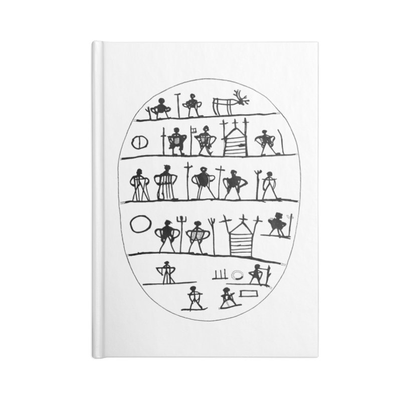 Five realms - Sami drum in Lined Journal Notebook by Beneath Northern Lights.com Shop