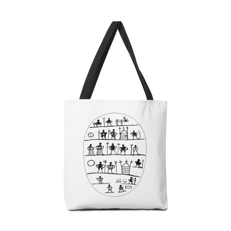 Five realms - Sami drum in Tote Bag by Beneath Northern Lights.com Shop