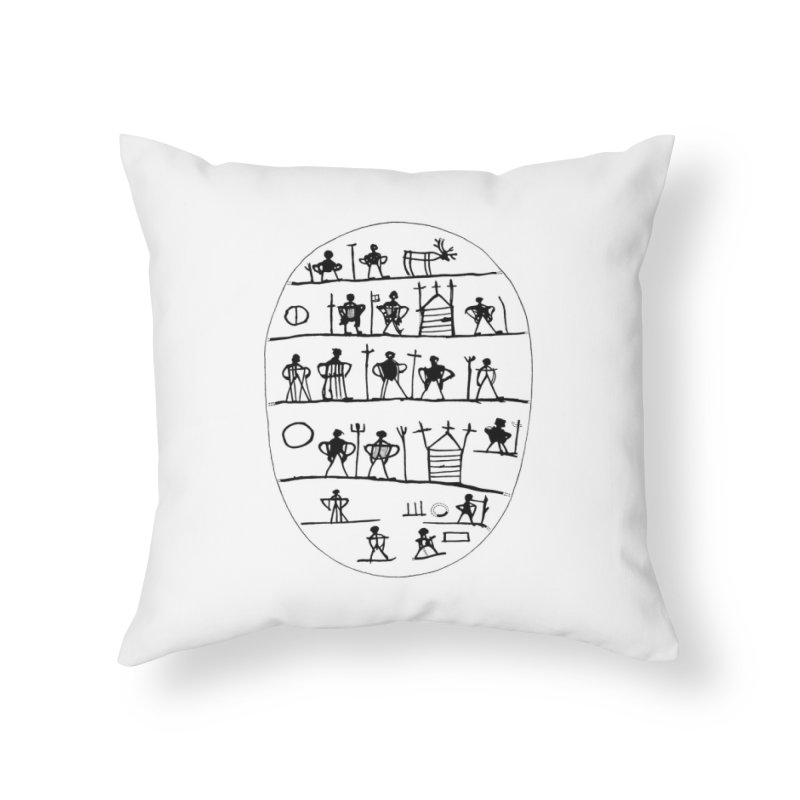 Five realms - Sami drum in Throw Pillow by Beneath Northern Lights.com Shop