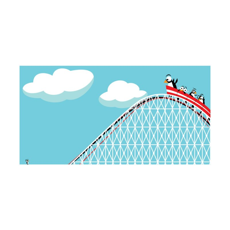 Penguins Rollercoaster Kids T-Shirt by BestFriends's Artist Shop