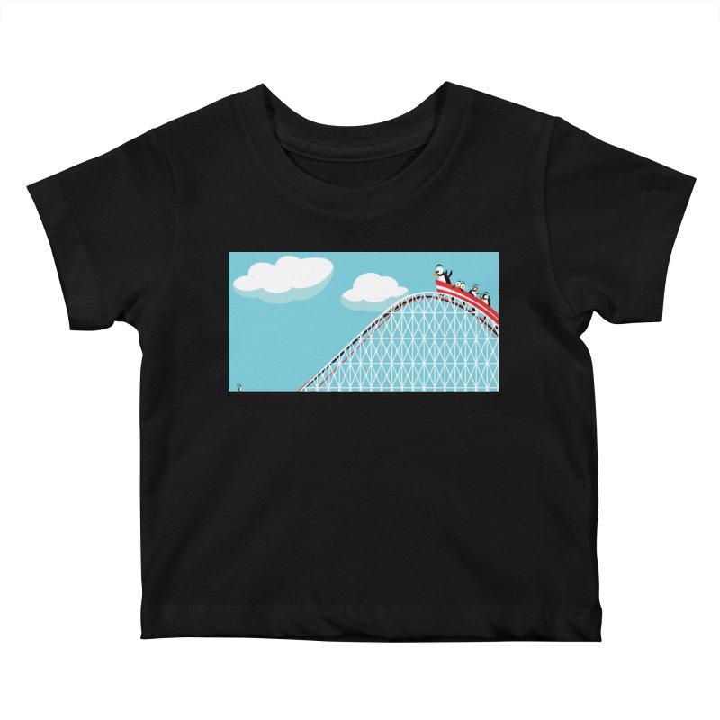 Penguins Rollercoaster Kids Baby T-Shirt by BestFriends's Artist Shop