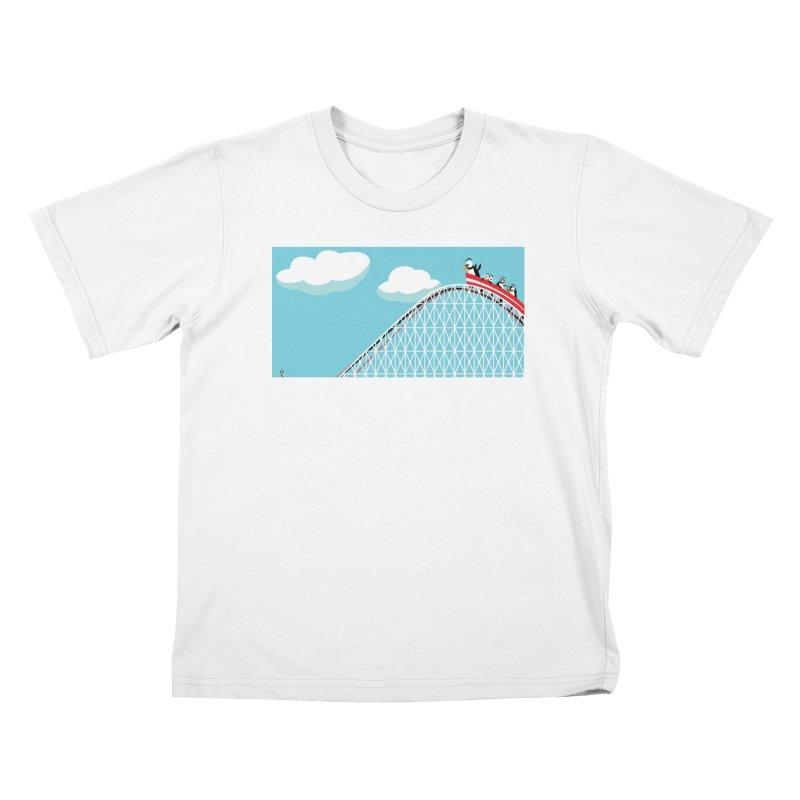 Penguins Rollercoaster Kids T-Shirt by BestFriends's Artist Shop