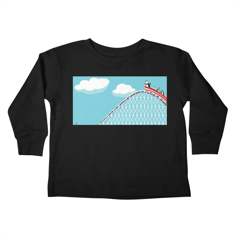 Penguins Rollercoaster Kids Toddler Longsleeve T-Shirt by BestFriends's Artist Shop