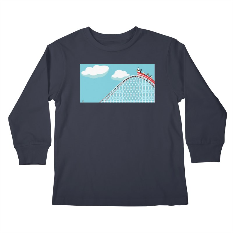 Penguins Rollercoaster Kids Longsleeve T-Shirt by BestFriends's Artist Shop