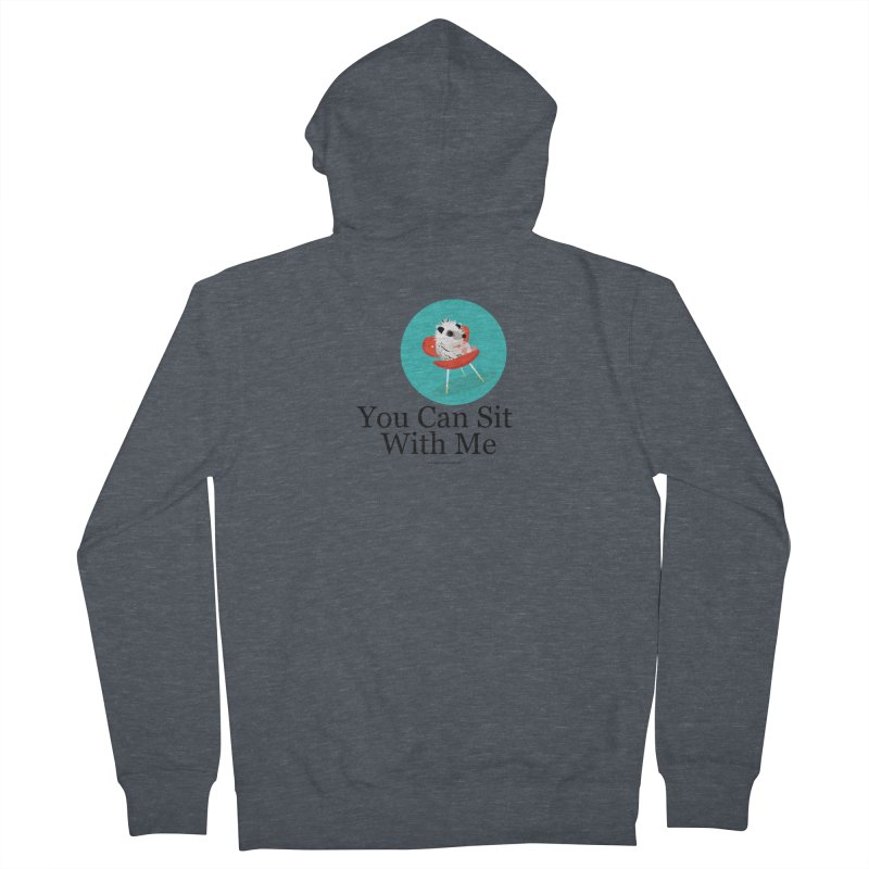You Can Sit With Me - Circle Men's Zip-Up Hoody by BestFriends's Artist Shop