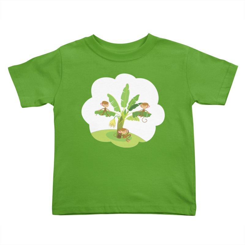 Banana Tree Kids Toddler T-Shirt by BestFriends's Artist Shop