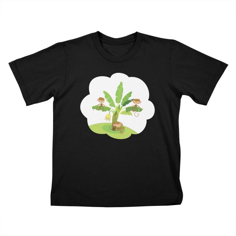 Banana Tree Kids T-Shirt by BestFriends's Artist Shop