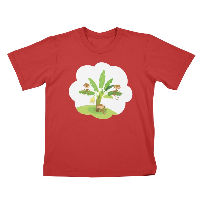 Banana Tree Kids T-Shirt by BestFriends's Artist Shop