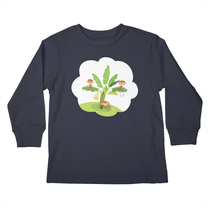 Banana Tree Kids Longsleeve T-Shirt by BestFriends's Artist Shop