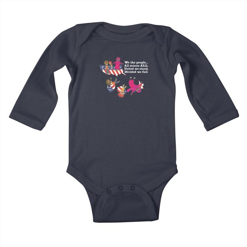 All Means All Kids Baby Longsleeve Bodysuit by BestFriends's Artist Shop
