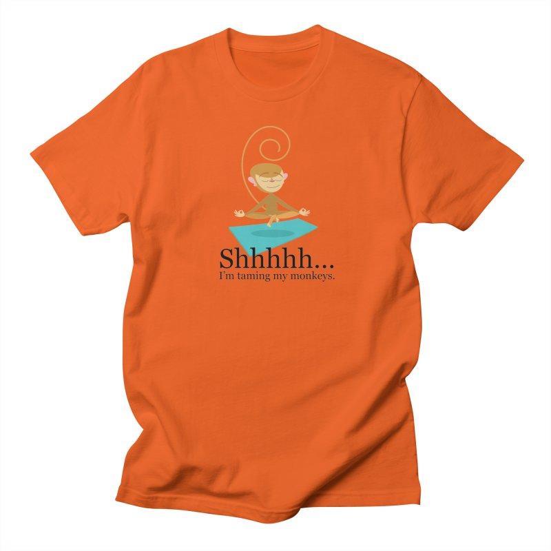 Monkey Meditation Men's T-Shirt by BestFriends's Artist Shop