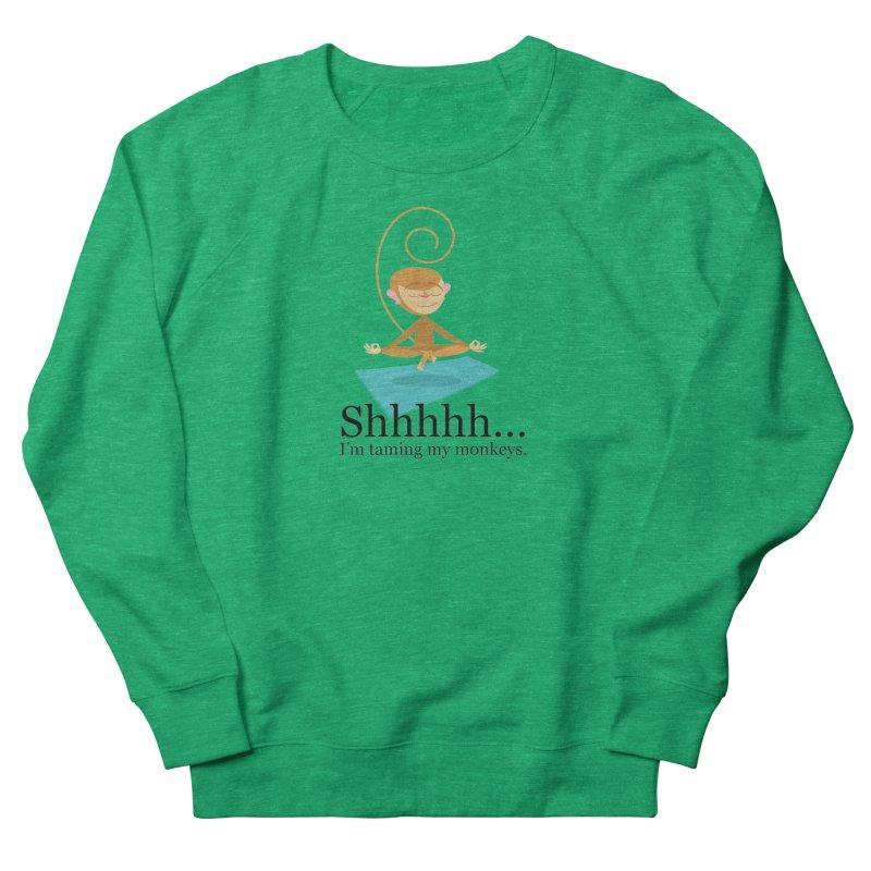 Monkey Meditation Women's Sweatshirt by BestFriends's Artist Shop