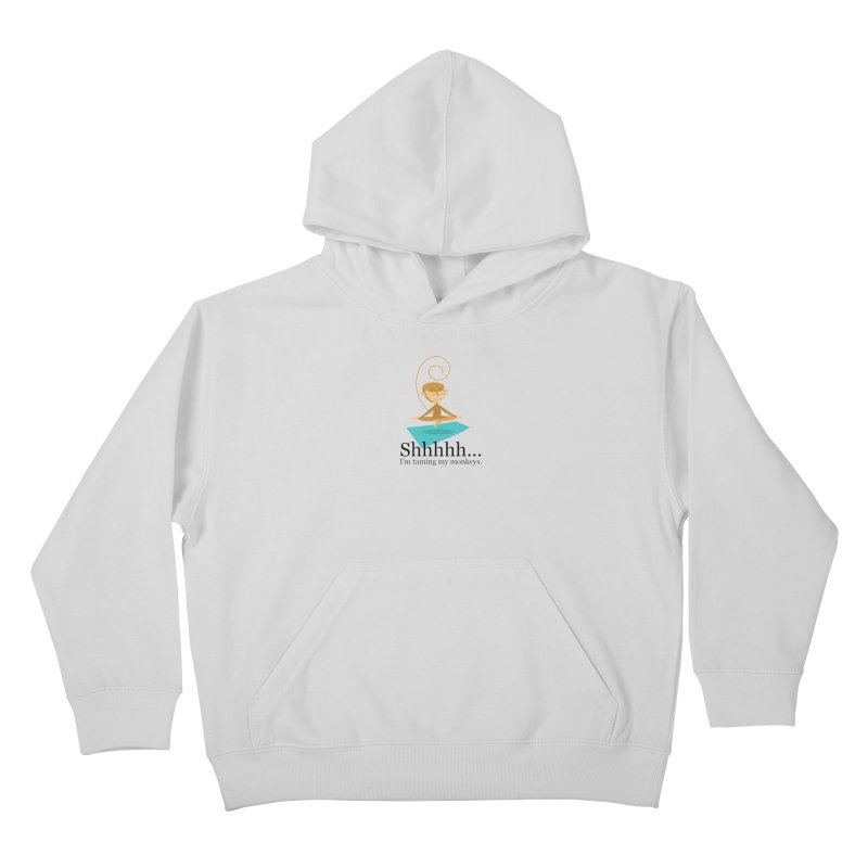 Monkey Meditation Kids Pullover Hoody by BestFriends's Artist Shop