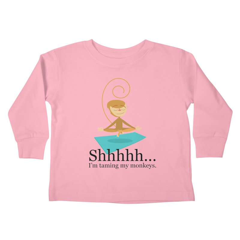 Monkey Meditation Kids Toddler Longsleeve T-Shirt by BestFriends's Artist Shop