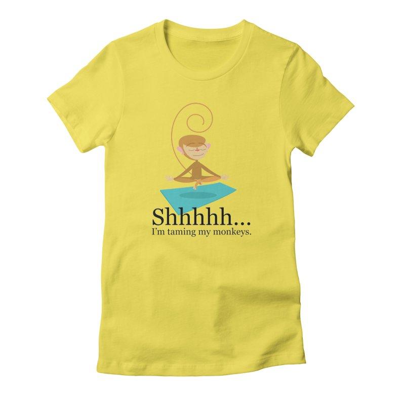 Monkey Meditation Women's T-Shirt by BestFriends's Artist Shop