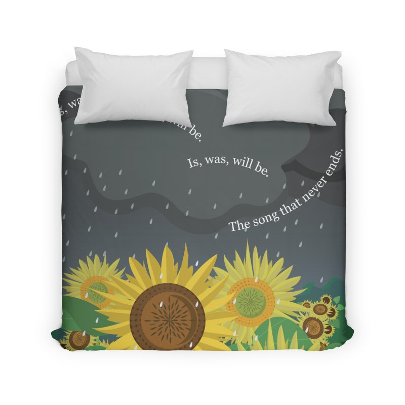 Is, Was, Will Be Home Duvet by BestFriends's Artist Shop