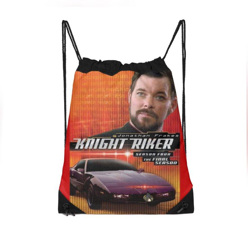 Knight Riker Accessories Drawstring Bag Bag by BestMarkMiller's Artist Shop