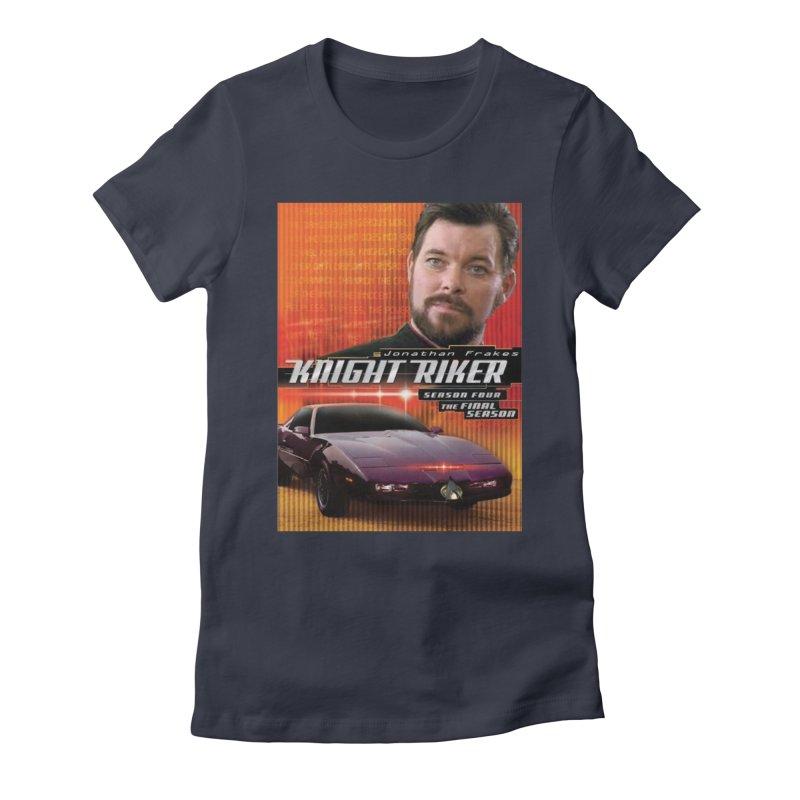 Knight Riker Women's Fitted T-Shirt by BestMarkMiller's Artist Shop