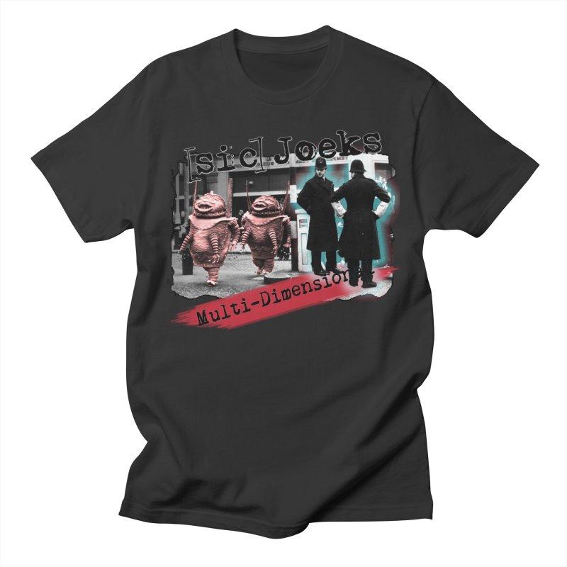 [sic] Joeks - Multi-Dimensional (Aliens and Bobbys) Men's T-Shirt by BestMarkMiller's Artist Shop