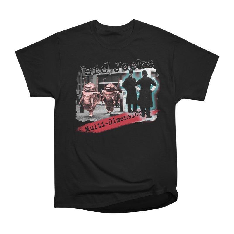 [sic] Joeks - Multi-Dimensional (Aliens and Bobbys) Men's Heavyweight T-Shirt by BestMarkMiller's Artist Shop