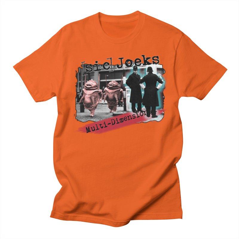 [sic] Joeks - Multi-Dimensional (Aliens and Bobbys) Men's Regular T-Shirt by BestMarkMiller's Artist Shop