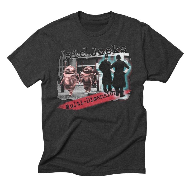 [sic] Joeks - Multi-Dimensional (Aliens and Bobbys) Men's Triblend T-Shirt by BestMarkMiller's Artist Shop